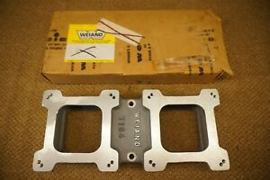 Vintage Nos Weiand Supercharger Carburetor Top Plate Adapter 7164 Gasser Hot Rod