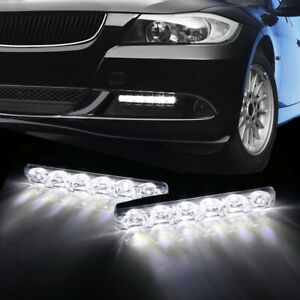 Universal Cool White Daylight 6 Led High Power Daytime Running Lights For Car