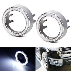 White 40 smd Led Angel Eyes Halo Rings W Shroud For Fog Lights Retrofit Diy