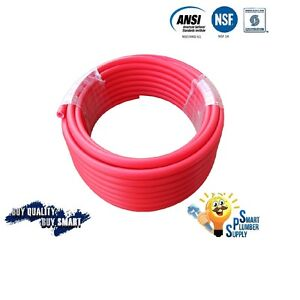 3 4 X 100 Ft Red Pex Tubing For Water Supply With 25 Years Warranty