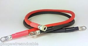 2 Gauge Awg Copper Battery Cable Marine Grade Tinned Boat car truck rv solar