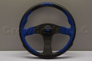 Nardi Personal Pole Position Steering Wheel 330mm Blue Suede Black Leather