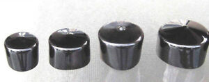 Black Vinyl Round End Cap Cover Rubber Plastic Hub Caps Tubing Flexible Pipe Top