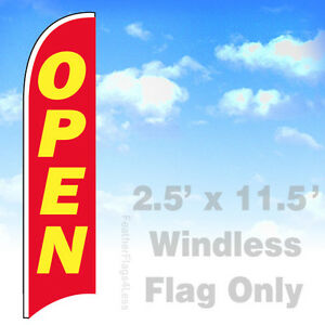 Open Windless Swooper Flag 2 5x11 5 Feather Banner Sign Flag Rb