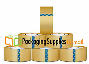 24 Rolls Carton Sealing Clear Packing 2 Mil Shipping Box Tape 6 X 72 Yards