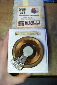 Nos Staco Type 251 Variable Autotransformer Panel Mount