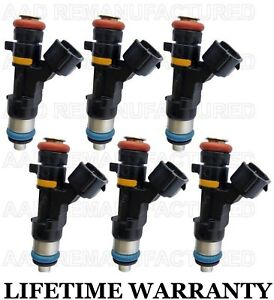Genuine Bosch Set Of 6 Fuel Injectors For Nissan Infiniti Fx35 M35 G35 350z 3 5l