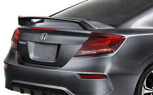 2012 2015 Unpainted primed Rear Trunk Spoiler Fits A Honda Civic Si 2 door Coupe