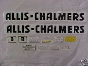 Decal Set For Allis Chalmers B Tractor