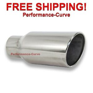 Diesel Stainless Steel Exhaust Tip 3 5 Inlet 5 Outlet 12 Long