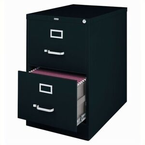 Hirsh 25 In Deep 2 Drawer Vertical Legal File Cabinet In Black