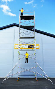 Scaffold Usa 33 Ft Double Wide Aluminum Mobile Scaffold Tower