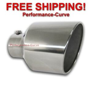 Diesel Stainless Steel Bolt On Exhaust Tip 5 Inlet 10 Outlet 15 Long