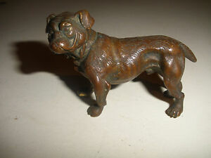 Antique Vintage Vienna Bronze Figure Bulldog Dog Austria Figure Paperweight