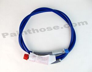 Airless Blue Paint Spray Hose Whip 3300 Psi 3 16 X 4 Mxf