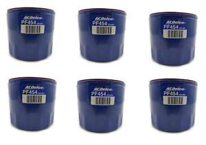 Six 6 Gm Acdelco Engine Oil Filter Bulk Pack Pf454 Pf454f 25324052 89028862