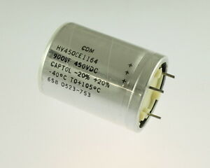 900uf 450v Large Can Electrolytic Aluminum Capacitor Mfd Dc 105c High Temp