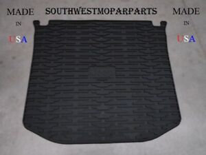 2011 19 Jeep Grand Cherokee Black Rubber Jeep Logo Cargo Tray Mat Oem 82212085