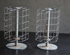 Store Display Jewelry Earring Metal Rack Vintage Advertising Shop Industrial Old