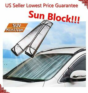 Auto Car Sun Shade Foldable Sun Visor For Front Wind Shield Rear Windows Large