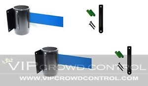 Wall Mount Stanchions 2 Pcs Package Aisleway 156 Blue Belt Vip Crowd Control