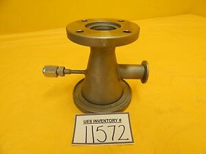 Edwards High Vacuum Conical Reducer Tee Iso80 Iso k To Iso40 Iso f Nw25 5 Used