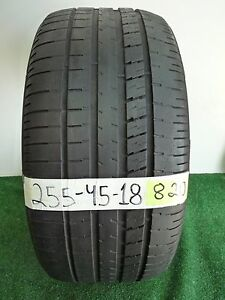 Goodyear Eagle F1 255 45 18 99w Used Tire 48 4 8 32nds 820