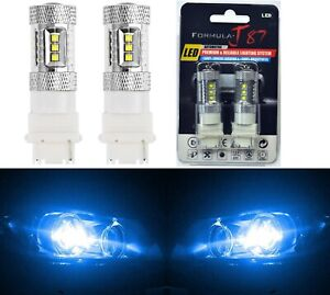 Led Light 80w 3156 Blue 10000k Two Bulbs Front Turn Signal Replacement Upgrade