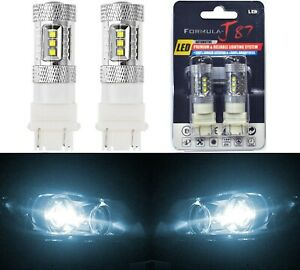 Led Light 80w 3157 White 6000k Two Bulbs Front Turn Signal Replacement Upgrade