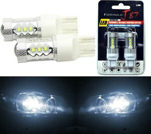 Led Light 80w 7443 White 5000k Two Bulbs Front Turn Signal Replace Upgrade Lamp