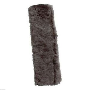 Patagonian Sheepskin Seat Car Belt Cover Shoulder Pad Gray Fleece Strap Soft