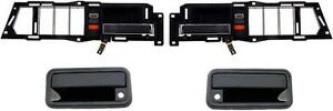 88 94 Chevy Gmc Truck For Front Outside Inside Door Handles Set 4 92 94 Suburban