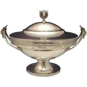 Gorham Sterling Silver Tureen With 3 D Bull Finial Figural Exceptional 0406