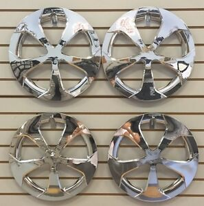 New 2010 2015 Toyota Prius 15 5 Spoke Chrome Hubcap Wheelcover Set Of 4