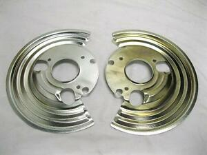1964 1972 Mopar B Body Backing Plates Set Dust Shields Disc Brake Pair New