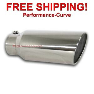 Diesel Stainless Steel Bolt On Exhaust Tip 5 Inlet 7 Outlet 18 Long