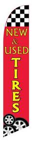 New Used Tires Windless Advertising Sign Swooper Flag And Pole Only 2 5 Wide
