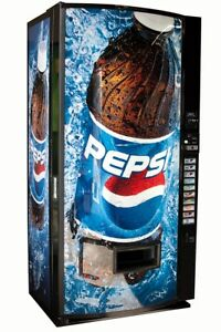 Vendo V max Multi Price Soda Vending Machine W Pepsi Graphics Cans Bottles V570
