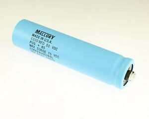 Mallory 6200uf 50v Large Can Electrolytic Capacitor Cgr622u050r5l