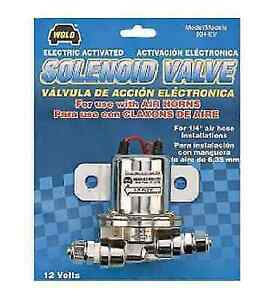Wolo 804 ev Universal Electric Solenoid 12v 1 4 Air Valve For Air Powered Horns