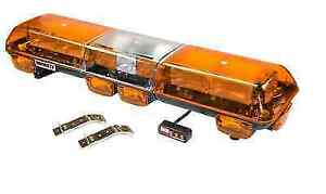 Wolo 7500 a Infinity 2 Amber Lens 12 volt Flashing Strobe Roof Mount Light Bar