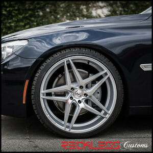 20 Blaque Diamond Bd8 Concave Wheels Rims Silver Fits Cadillac Cts V Coupe