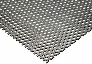 304 Stainless Steel Perforated Sheet 035 20 Ga X 8 X 12 1 8 Holes