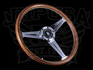 Nardi Classic Wood Steering Wheel Polished Spokes Center Ring Horn Button 360mm
