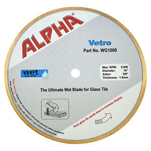 10 Alpha Vetro Blade For Cutting Glass