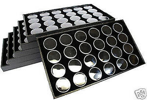 6 24 Gem Jar Tray Black Insert Jewelry Display Gemstone
