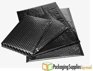Black Metallic Bubble Mailers 13 75 X 11 Padded Envelopes 50 Pieces Per Case