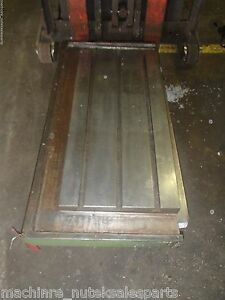 41 5 X 20 Steel Weld T slotted Table Cast Iron Layout Plate 3 T slots Weld Jig