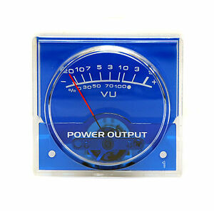 20pc Panel Vu Meter Sd 310rn Blue 48x45mm 20 5db Dcr 650 No Lamp Sd Flashstar