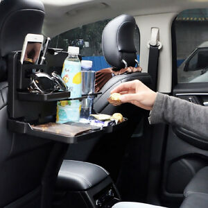 Portable Car Interior Cup Holder Car Seat Back Folding Lunch Table Tray Children